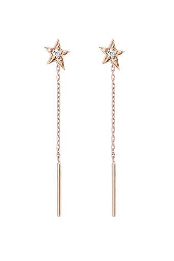 Gigi Clozeau / Boucles d'oreilles étoile or rose et diamant