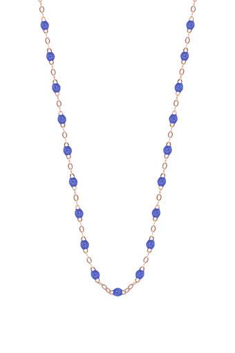 Gigi Clozeau / Collier or rose et perles de résine 42 cm
