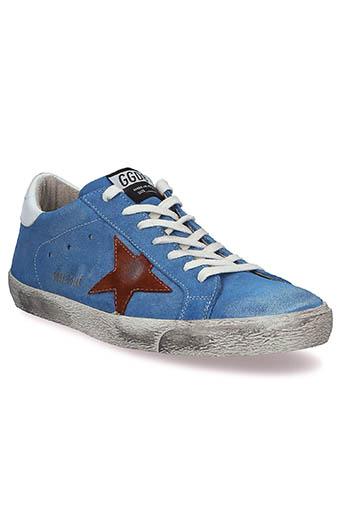 Golden Goose / Sneakers Superstar, bleu et étoile marron