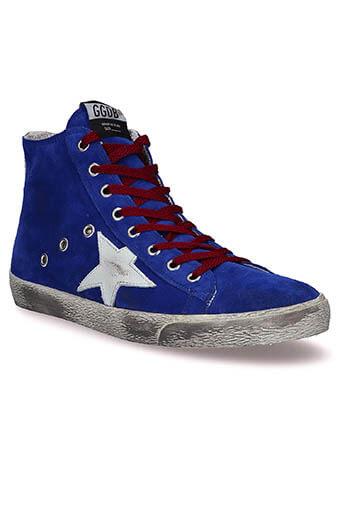 Golden Goose / Sneakers Francy, bleu électrique