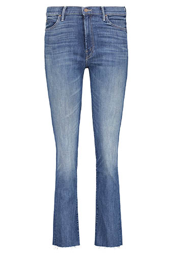 Mother / Jean High Waisted Rascal Ankle Fray