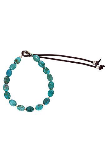 Catherine Michiels / Bracelet réglable turquoise