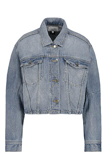 Current Elliott / The Collin Cropped Denim Jacket