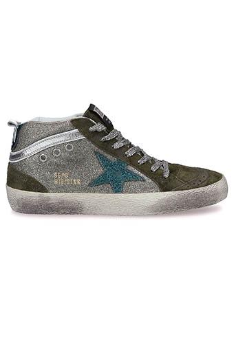 Golden Goose / Sneakers Mid Star green glitter