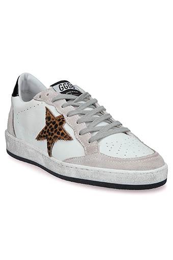 Golden Goose / Sneackers ball star white léopard