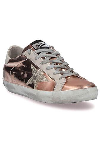 Golden Goose / Sneakers Superstar métallisés  pink pearl