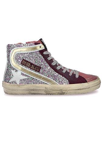 Golden Goose / Sneakers Slide Cyclamin glitter