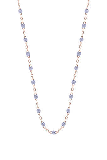 Gigi Clozeau / Collier or rose perle de résine diamant