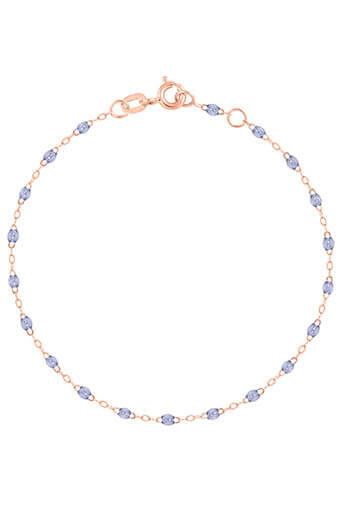 Gigi Clozeau / Bracelet or rose perles de résine diamant