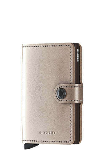 Secrid / Miniwallet metallic Champagne-brown
