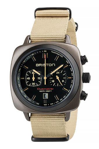 Briston / Clubmaster Sport Acier - Chronographe Kaki