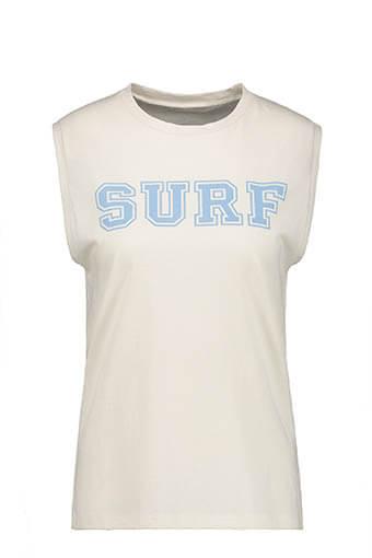6397 / Débardeur Surf City écru