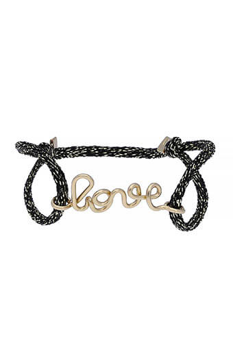 Atelier Paulin / Bracelet love cordon de soie