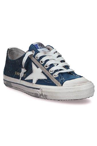 Golden Goose / Sneakers V-star 2, velours côtelé
