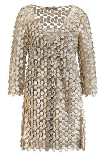 Alberta Ferretti / Robe feuilles d'or
