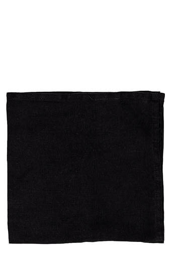 ByON / Serviette de table en lin noir 45 X 45 cm