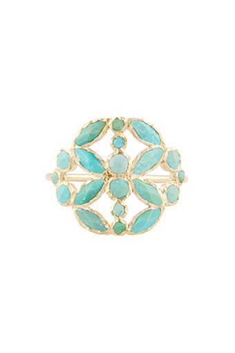 Pascale Monvoisin / Bague Nour N°3 Turquoise