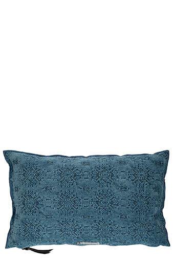 Maison de Vacances / Coussin jacquard stone washed 30 X 50 cm