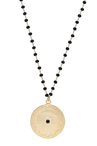 Maison Irem / Collier pièce de monnaie Black Bead