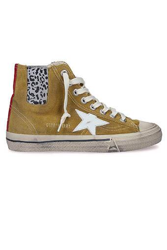 Golden Goose / Sneakers V-star 1, cuir suédé moutarde