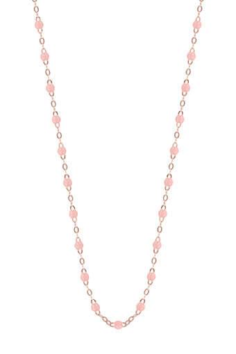 Gigi Clozeau / Collier or rose et perles de résine 50 cm