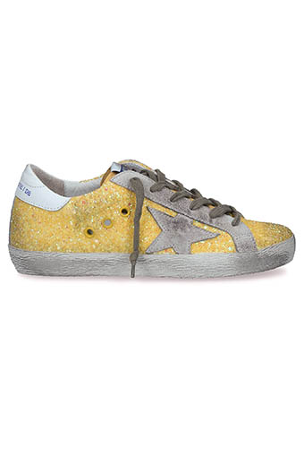 Golden Goose / Sneakers Superstar, jaune pailleté
