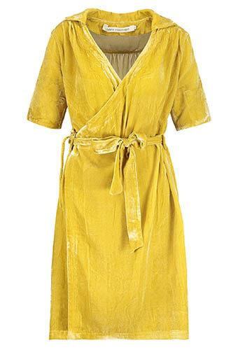 Fabric Copenhagen / Robe en velours jaune