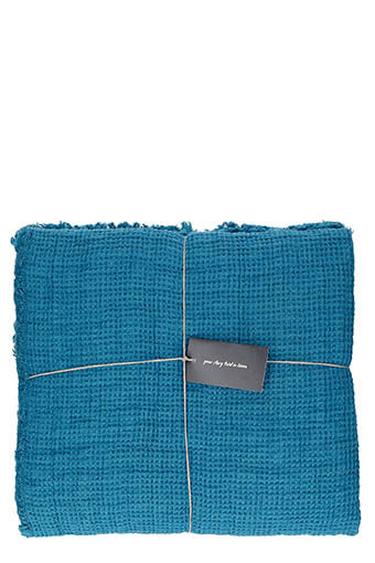 LinenMe / Jeté de canapé 155 x 200 cm Marine blue