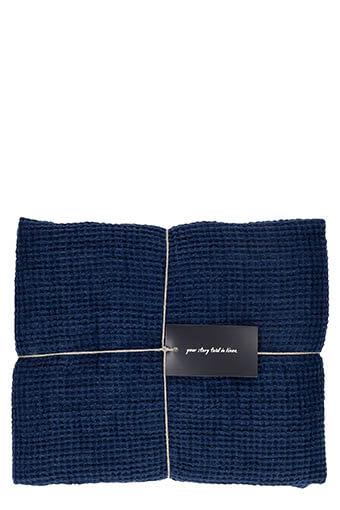 LinenMe / Serviette de toilette 100 x160 cm Navy blue