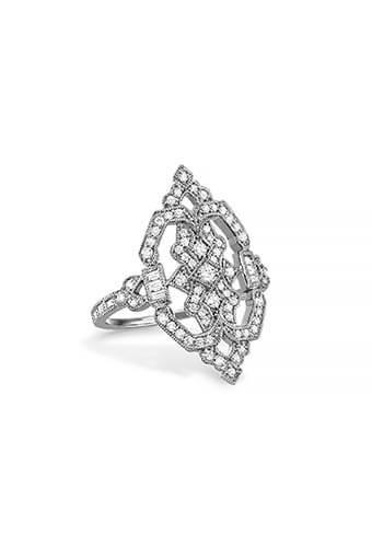 Stone Paris / Bague Garbo en or blanc et diamants