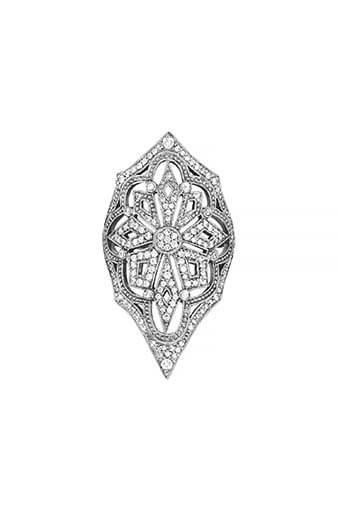 Stone Paris / Bague Lilith or noir et diamants