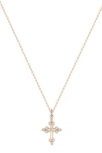Stone Paris / Collier devotion en or rose et diamants