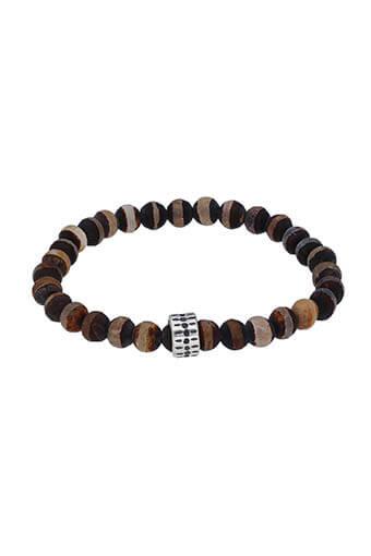 Chan Luu / Bracelet Mat brown argent