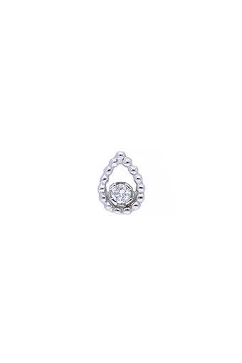 Gigi Clozeau / Boucles d'oreilles puces or gris et diamants poire unique