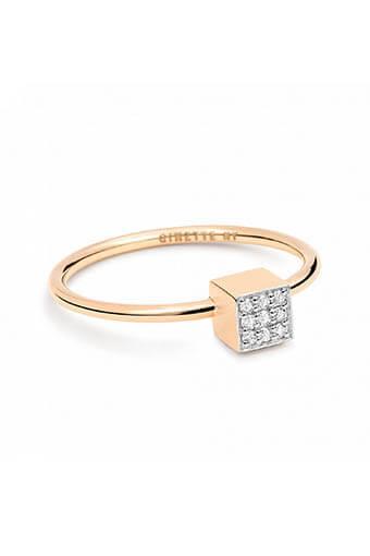 Ginette NY / Bague - Mini diamond Ever Square