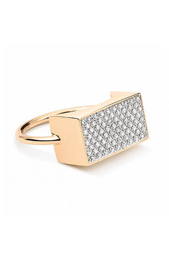 Ginette NY / Bague - Diamond Ever rectangle