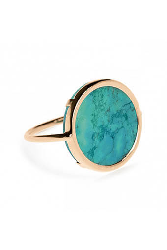 Ginette NY / Bague - Fallen sky Disc turquoise