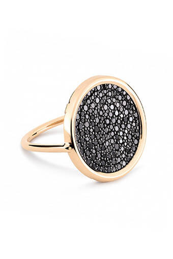 Ginette NY / Bague- Black Diamond Disc