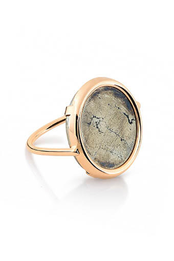 Ginette NY / Bague -  Fool's gold disc Pyrite