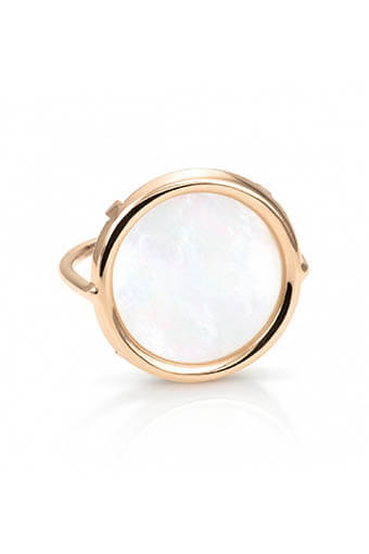 Ginette NY / Bague - Disc Ring mother of pearl Nacre