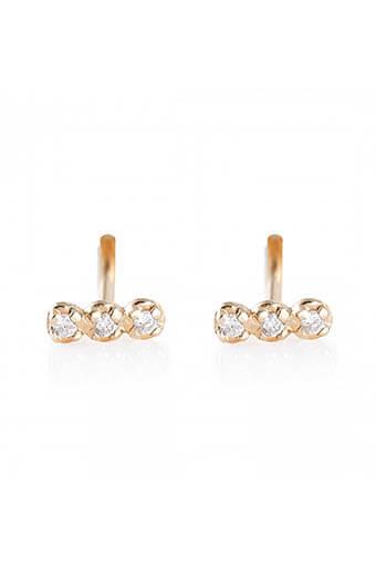 Ginette NY / Boucles d'oreilles - Diamond Strip
