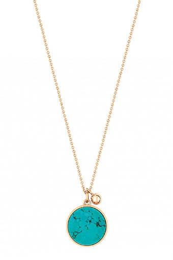 Ginette NY / Collier - Ever turquoise disc on chain