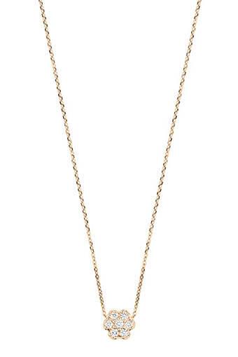 Ginette NY / Collier - Mini diamond lotus on chain