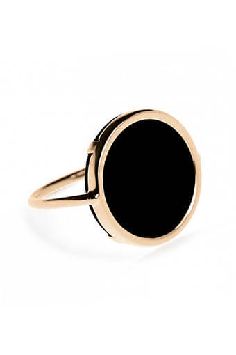 Ginette NY / Bague -Black onyx disc