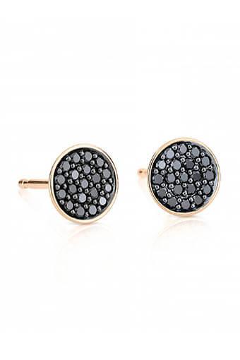 Ginette NY / Boucles d'oreilles - Round sequin Black Diamond