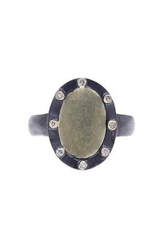 5 Octobre / Bague Herbie Diamant - Argent oxydé