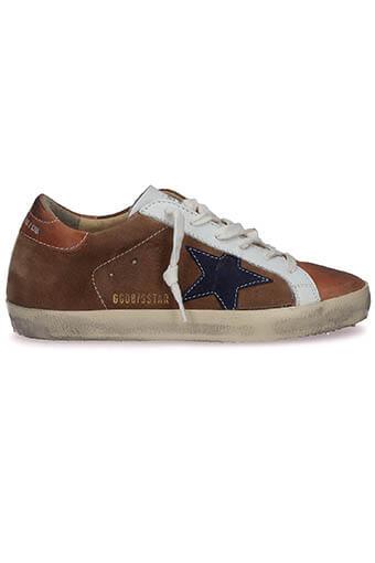 Golden Goose / Sneakers Superstar, cuir suédé étoile indigo