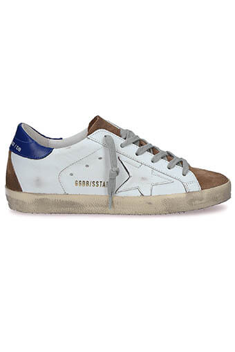 Golden Goose / Sneakers Superstar, patch bleu étoile blanche