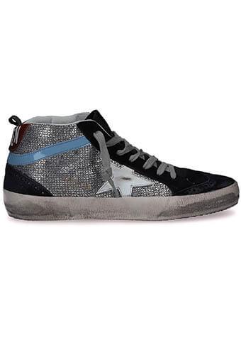Golden Goose / Sneakers Mid Star, disco glitter