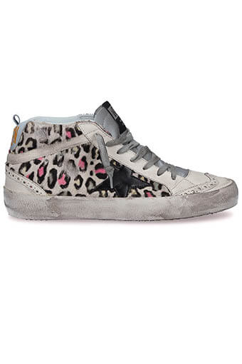 Golden Goose / Sneakers Mid Star, multicolor pony